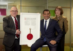 APM Receiving The Royal Charter