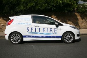 Spitfire branded vehicle