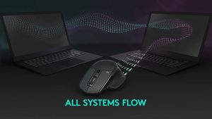 Controlling up to three computers with one mouse