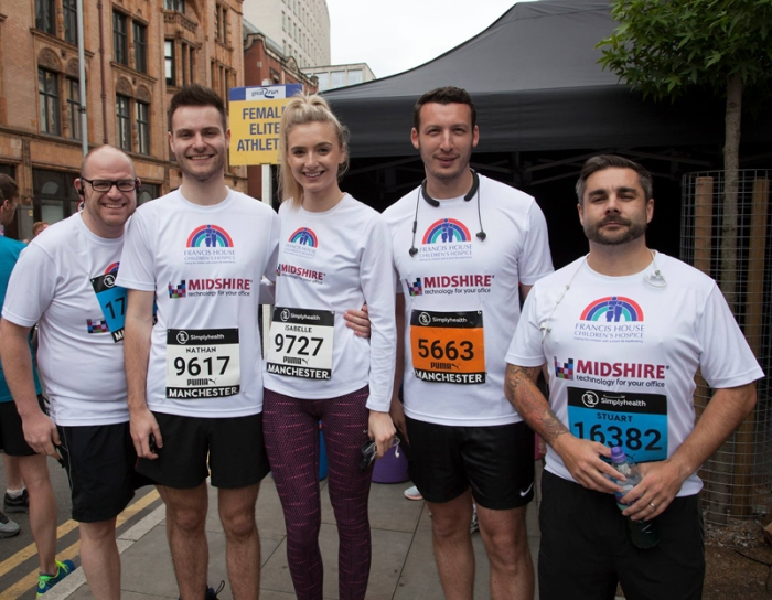 Staff of Midshire take part in the Great Manachester Run
