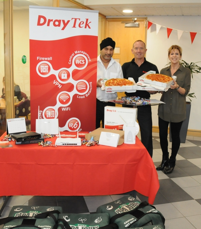 Record monthly sales figures for DrayTek's network management product