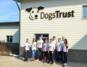 A team of nine employees spent a day at the Dogs Trust Rehoming Centre in Evesham