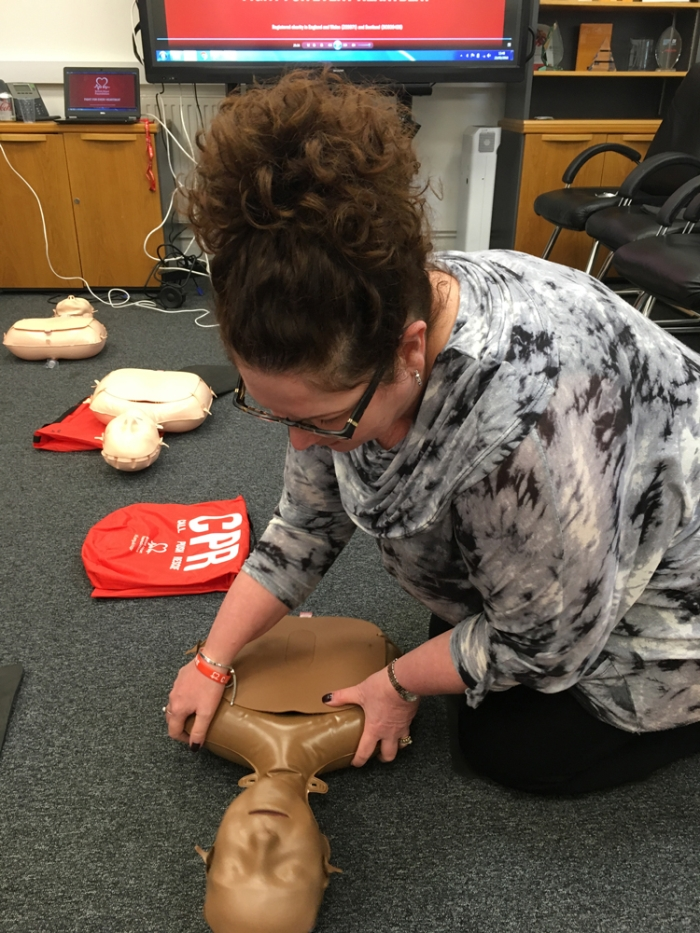 Practicing Cardio Pulmonary Resuscitation