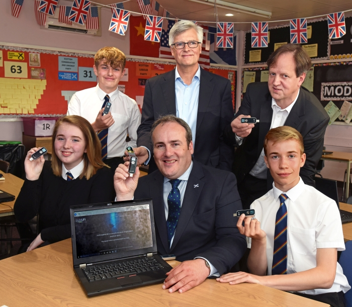 LiFi technology benefiting Scottish Secondary school children