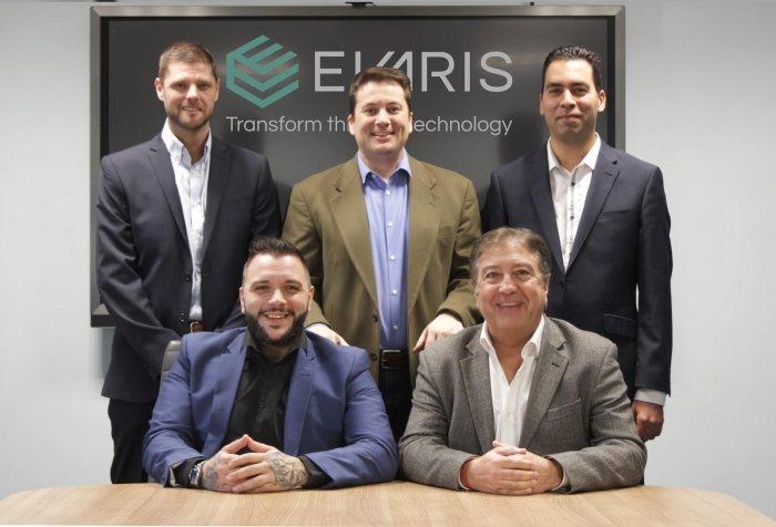 L-R: Michael Thompson, Partner Alliances Commercial Manager; Robert Gibbons, Head of Managed Services; Albie Attias, Head of Business Development; Roberto Monetti, Head of Sales; Mike Cohen, CEO