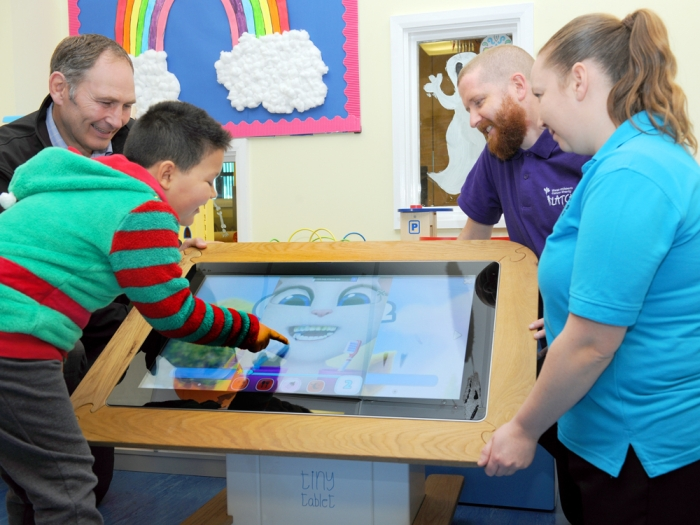 "Donating a 32"" Interactive Touch Screen Table"