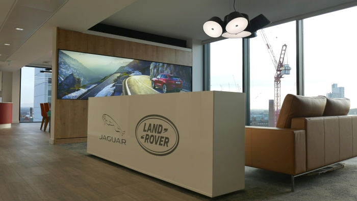 Panasonic large format displays at Jaguar Land Rover