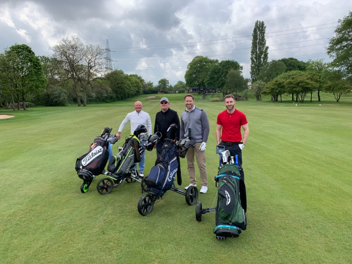 Golfers enjoying the charity day