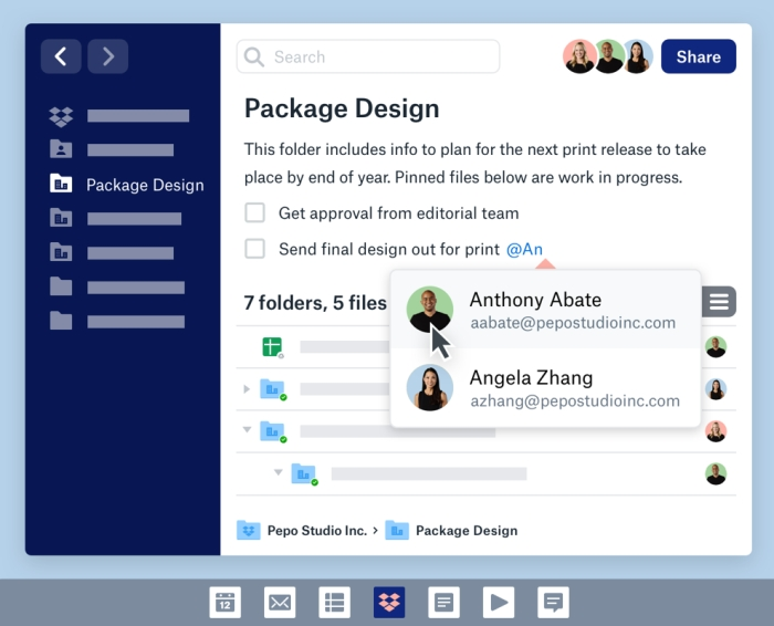 Turning Dropbox into a single digital workspace