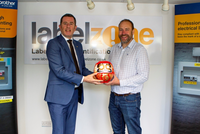 Brother UK Managing Director Phil Jones MBEand Advanced Labelling Ltd (Labelzone) Managing Director Stuart Wilson