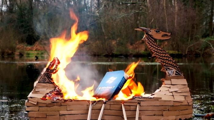 Viking style funeral